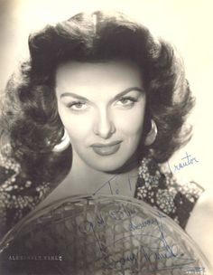 "JANE RUSSELL. Born:Ernestine Jane Geraldine Russell, June 21, 1921 Minnesota, USA. Died: Feb. 28, 2011 (age 89) of respiratory failure. She was signed to a seven year contract in 1941 by Howard Hughes for ""The Outlaw"" (1943), the film that was to make Jane famous. Co starred with Marilyn Monroe in ""Gentlemen Prefer Blondes"" (1953). Her final film was ""Darker Than Amber"" (1970). Had Jane not been wasted during the Hughes years, she could've been a bigger actress than what she was allowed to…"