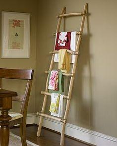 miscellaneous – pottery barn, wall ladder, bamboo ladder - All About Diy Bamboo, Bamboo Table, Bamboo Art, Bamboo Crafts, Bamboo Ideas, Diy Simple, Easy Diy, Pottery Barn, Bamboo Headboard
