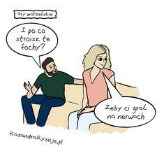 Kasandra rysuje, gry małżeńskie, humor, śmieszne, foch,  kobieta, mężczyzna, w związku Ecards, Memes, Electronic Cards, E Cards, Meme