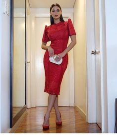 Best 674 filipiniana images on Modern Filipiniana Gown, Dress Skirt, Lace Dress, Filipino Fashion, Philippines Fashion, Outfit Combinations, Traditional Dresses, Designer Dresses, Marie