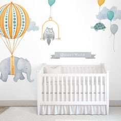 Personalized Wall Decal - Floating Elephants - $139