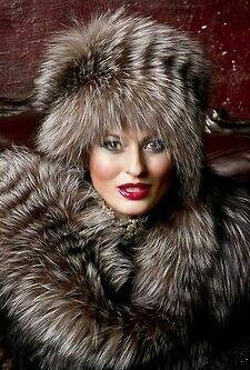 Silver Fox Fur Frame