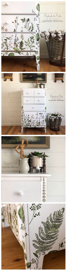 Greenery Dresser Makeover by Rehab to Fab Funky Furniture, Refurbished Furniture, Paint Furniture, Repurposed Furniture, Furniture Projects, Furniture Makeover, Home Furniture, Diy Arts And Crafts, Furniture Restoration