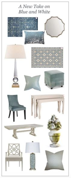 New take on classic blue and white. I like that it is softer