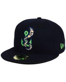 New Era Gwinnett Stripers Ac Fitted Cap - Blue 7 Hip Hop Fashion, Mens Fashion, New Era Fitted, New Era Hats, New Era 59fifty, Fitted Caps, Cool Hats, Mens Caps, Back To Black