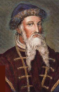 Przełomem w rozwoju średniowiecznej książki było wynalezienie druku. Dokonał tego Johann Gutenberg, który w 1455 roku wydrukował pierwszą książkę, Biblię – arcydzieło sztuki typograficznej. W 1457 r. wydał Psałterz moguncki. Literatura