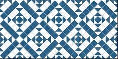 Clarendon design in dark blue and white