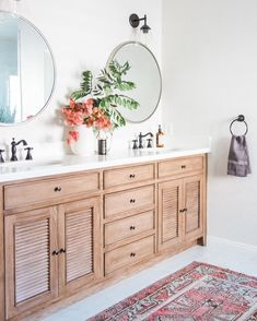 Stained vanity