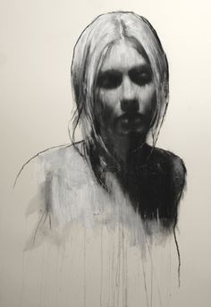 """Sam"" - Mark Demsteader, pastel and collage {contemporary artist blonde female head woman face portrait drawing} Mark Demsteader, Figure Painting, Figure Drawing, Painting & Drawing, Collage Drawing, Gravure Illustration, Illustration Art, Illustrations, Female Portrait"