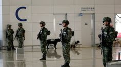 Shanghai Pudong airport explosion wounds three - BBC News