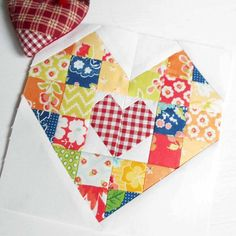 The Patchsmith's Patchwork Heart Block.  This block will appear in my Patchsmith Sampler book due out in Autumn 2017.