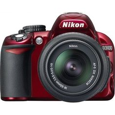 The Nikon D3100 Digital SLR Camera (Red) is an affordable compact and lightweight photographic power-house. It features the all-purpose 18-55mm VR lens a high-resolution 14.2 MP CMOS sensor along w...