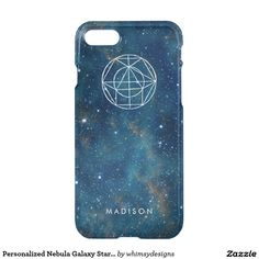 Personalized Nebula Galaxy Stars Geometry Pattern iPhone 7 Case