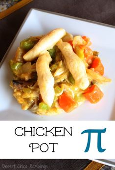 Celebrate Pi Day with Healthier Pies - Chicken Pot Pie Easy Baking Recipes, Side Dish Recipes, Dinner Recipes, Cooking Recipes, Pie Recipes, Cream Of Chicken Soup, Yummy Appetizers, Casserole Recipes, Chicken Recipes