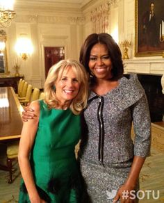 ...The first Lady and Second Lady of the US. Jill Biden and Michelle Obama