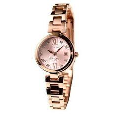 Forever(フォーエバー)  腕時計 デイト付き FL-1201-3  ピンク×ピンクゴールド - 拡大画像  #レディース時計 #レディース時計プレゼント #レディース時計人気20代 #レディース財布 #レディース時計ブランド #レディース時計人気