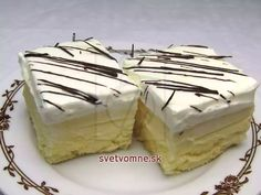 Likérové kocky • Recept | svetvomne.sk Russian Dishes, Russian Recipes, Unique Recipes, Sweet Recipes, Baking Recipes, Cake Recipes, Polish Recipes, Four, International Recipes
