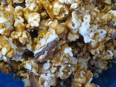 Zebra popcorn: crunchy caramel corn with dark and white chocolate drizzled on it. I had Popcornopolis's version of this and it was one of the best things I've ever eaten. Hopefully homemade can compare.