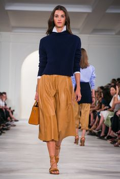 A look from the Ralph Lauren spring/summer 2016 show during New York Fashion Week (Photo: Guillaume Roujas/Nowfashion)