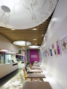 WakuWaku Sustainability Fast Food Restaurant Interior Design