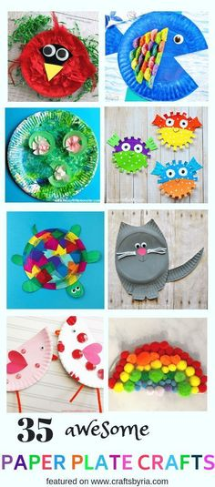 Find so many easy paper plate crafts for kids including ocean crafts summer crafts spring crafts hand print crafts footprint crafts paper plate animals and so much more These are perfect to stay crafty all year round craftsforkids paperplatecraft Paper Plate Crafts For Kids, Fun Arts And Crafts, Winter Crafts For Kids, Crafts For Kids To Make, Spring Crafts, Paper Crafts, Kids Crafts, Rock Crafts, Creative Crafts