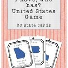 This is a fun way to practice learning the 50 United States of America.   This I have, Who has? game includes 50 large US cards that come ready to ...