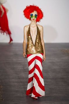 Pin for Later: The 7 Key Trends From London Fashion Week for Spring 2016 All That Glitters Gareth Pugh