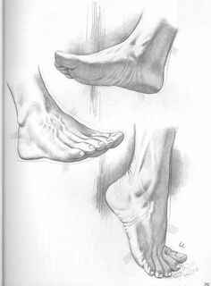 Feet postures for pencil drawing practice. Feet Drawing, Body Drawing, Life Drawing, Figure Drawing, Drawing Process, Anatomy Sketches, Anatomy Drawing, Anatomy Art, Pencil Art Drawings