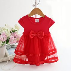 50aac7155 NewBorn Baby Dress Summer Cotton Bow Baby Rompers For girls Summer Kids  Infant Clothes Baby Girls Jumpsuit-in Dresses from Mother & Kids on  Aliexpress.com ...