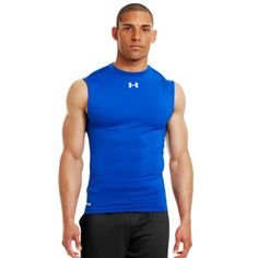 Under Armour Men's HeatGear® Sonic Compression Sleeveless #UnderArmour #Men #HeatGear #SonicCompression #Sleeveless #fitness #clothing