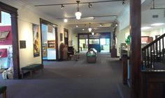 Interior of the Johnson County Museum in Franklin, housed inside the beautiful Masonic Temple.