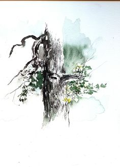 watercolor tree | 15-Minute Plein Air Watercolor Sketch, Oct 26 | David Tripp's Blog