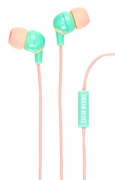Cute pink and mint headphones