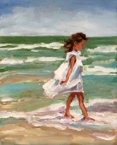 "Daily Paintworks - ""courtney"" - Original Fine Art for Sale - © Carol Carmichael Painting People, Figure Painting, Beach Art, Beautiful Paintings, Love Art, Painting Inspiration, Amazing Art, Watercolor Art, Art Projects"