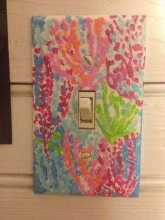 Lilly+Pulitzer+Inspired+Print+Switchplate+by+BlingMyToms+on+Etsy,+$5.00