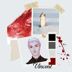 A character aesthetic for Vincent from The Cruel Gods. Character Aesthetic, Novels, Polaroid Film, Fantasy, God, Dios, Allah, Fantasy Books, Fantasia
