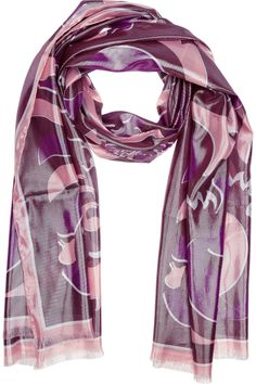 emilio pucci silk scarf  | Home > Accessories > Scarves > Printed > Metallic silk-blend scarf