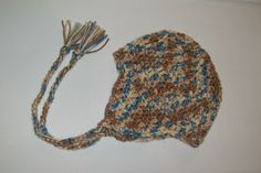 Crocheted Baby Beanie with Earflaps. $12.00, via Etsy.