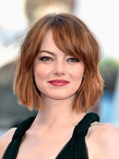 Celebrity Bob Cut Hairstyles for Round Chubby Face | Cinefog