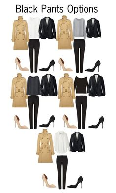 """""""Black Pants Outfits"""" by charlotte-mcfarlane ❤ liked on Polyvore featuring Uniqlo, Polo Ralph Lauren and Kurt Geiger"""