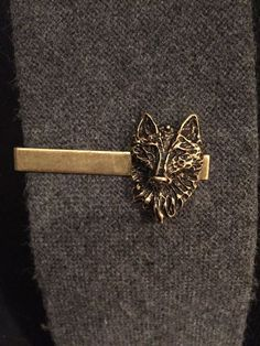Dire Wolf Mens Accessories Wolf Tie Clip by ArcanumByAerrowae - jewelry, silver, delicate, ring, unusual, costume jewellery *ad