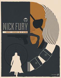 "Nick Fury || by Matt Needle || 786px x 1000px || #fanart || $35, 11"" x 14"""