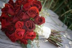 red rose bridal beach bouquet pictures - Google Search