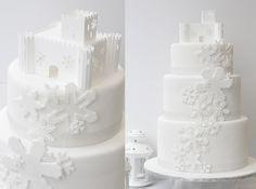 Winter Cake // Snow flakes by Fonderia