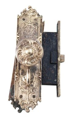 Antique bronze entry door pull with thumb latch | Antique Hardware ...