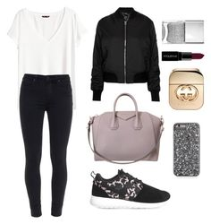 """""""Gucci"""" by danimt99 on Polyvore featuring NIKE, Givenchy, Topshop, Smashbox, Gucci, H&M, Paige Denim, women's clothing, women's fashion and women"""