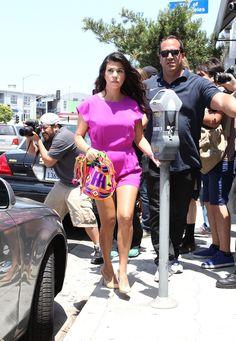 "Kourtney Kardashian wearing our ""Colombia is Passion"" Mochila Bag by ""Mochila Bag Addixion"" in Beverly Hills"