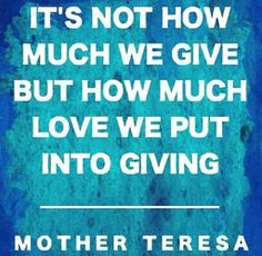 inspirational giving mother teresa quote Great Quotes, Quotes To Live By, Me Quotes, Inspirational Quotes, Qoutes, Love Others, Helping Others, Mother Teresa, Empowering Quotes