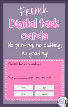 Save yourself time and money with digital task cards! Creative Teaching, Teaching Tools, Teaching Ideas, Teaching Resources, Piano Practice Chart, Online Classroom, Classroom Setup, Classroom Resources, High School French