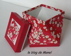 """les cartonnages de Manel / boite """"tournée"""" ouverte"""